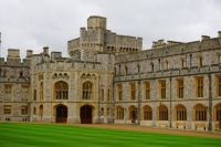 View of courtyard, Windsor Castle