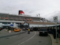 Queen Mary 2 docked in Brooklyn