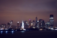 Statue of Liberty and Manhattan skyline