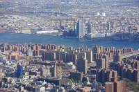 New York towards East River from One World Trade Center
