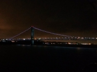 Approaching the Verrazano Narrows Bridge (New York Harbor)