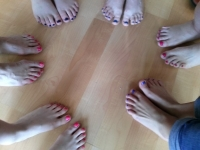 Dazzling toes